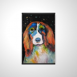 Magnetic 28 x 42 - 3D - Colorful dog
