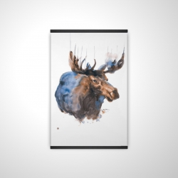 Magnetic 20 x 30 - 3D - Abstract blue moose
