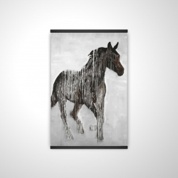 Magnetic 20 x 30 - 3D - Abstract brown horse
