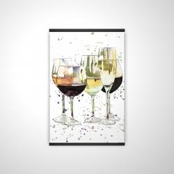 Magnetic 20 x 30 - 3D - Beautiful wine glasses