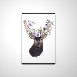 Magnetic 20 x 30 - 3D - Roe deer head with flowers
