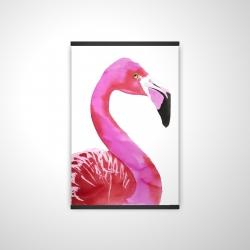 Magnetic 20 x 30 - 3D - Watercolor proud flamingo profile
