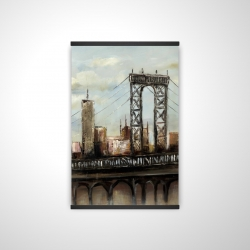 Magnetic 20 x 30 - 3D - City bridge by a cloudy day