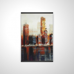 Magnetic 20 x 30 - 3D - Abstract red cityscape