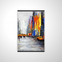 Magnetic 20 x 30 - 3D - Color spotted street with taxis