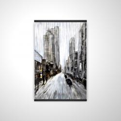 Magnetic 20 x 30 - 3D - Gray gloomy street