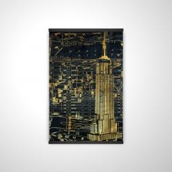Magnetic 20 x 30 - 3D - Gold city blue print