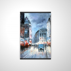 Magnetic 20 x 30 - 3D - Abstract red and blue city