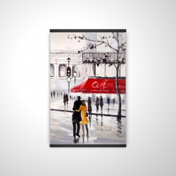 Magnetic 20 x 30 - 3D - Couple walking near a coffee shop