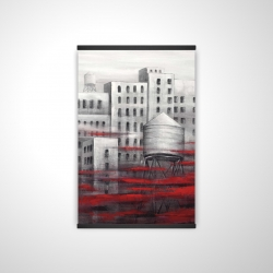 Magnetic 20 x 30 - 3D - Gray city with red clouds