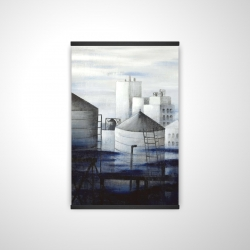 Magnetic 20 x 30 - 3D - Gray city with blue clouds