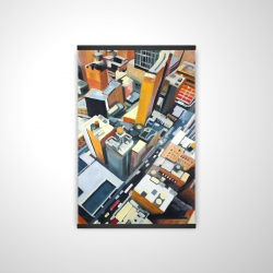 Magnetic 20 x 30 - 3D - High top view of buildings in new york