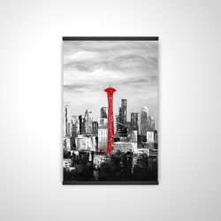 Magnetic 20 x 30 - 3D - Space needle in red