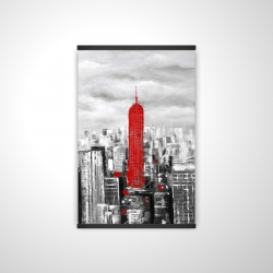 Magnetic 20 x 30 - 3D - Empire state building of new york