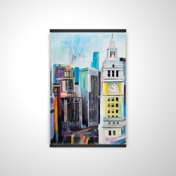 Magnetic 20 x 30 - 3D - Colorful cityscape of manhattan