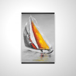 Magnetic 20 x 30 - 3D - Two colors sailing boat
