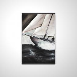 Magnetic 20 x 30 - 3D - Boat in a violent storm