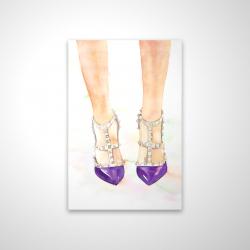 Magnetic 20 x 30 - 3D - Purple studded high heels
