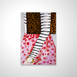 Magnetic 20 x 30 - 3D - Fashionable woman with a leopard bag