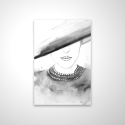 Magnetic 20 x 30 - 3D - Mysterious lady with a hat