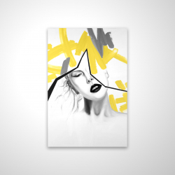 Magnetic 20 x 30 - 3D - Woman with yellow line