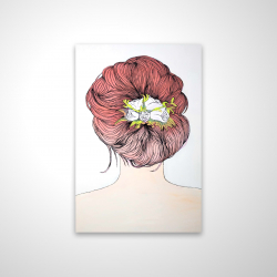 Magnetic 20 x 30 - 3D - Lady with flowers in her hair
