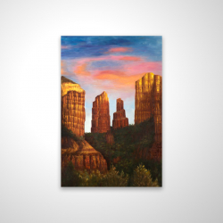 Magnetic 20 x 30 - 3D - Cathedral rock in arizona