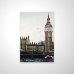 Magnetic 20 x 30 - 3D - Big ben clock elizabeth tower in london
