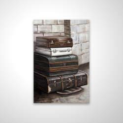 Magnetic 20 x 30 - 3D - Four old traveling suitcases