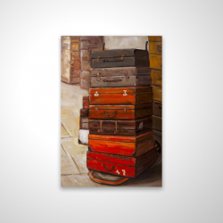 Magnetic 20 x 30 - 3D - Old traveling suitcases