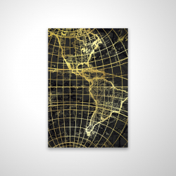 Magnetic 20 x 30 - 3D - Black and marine world map globe