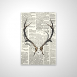 Magnetic 20 x 30 - 3D - Deer horns with newspaper