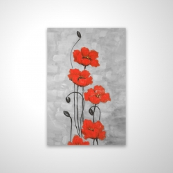 Magnetic 20 x 30 - 3D - Big red flowers