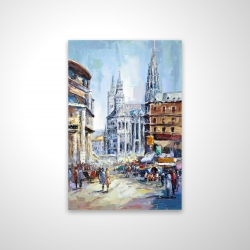Magnetic 20 x 30 - 3D - Busy street by a sunny day