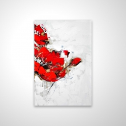 Magnetic 20 x 30 - 3D - Abstract red flowers with texture