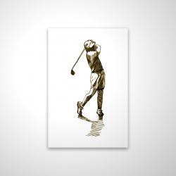 Magnetic 20 x 30 - 3D - Illustration of a golfer
