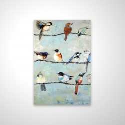 Magnetic 20 x 30 - 3D - Small colorful birds