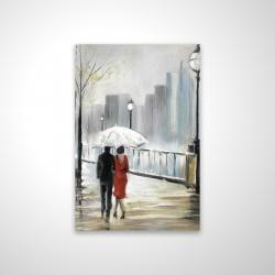 Magnetic 20 x 30 - 3D - Couple walking under the rain