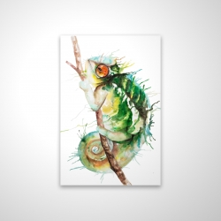 Magnetic 20 x 30 - 3D - Watercolor chameleon