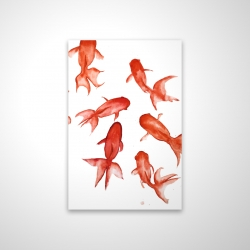 Magnetic 20 x 30 - 3D - Red fishes