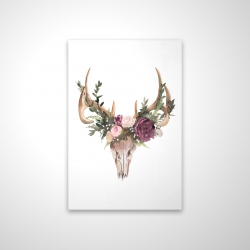 Magnetic 20 x 30 - 3D - Deer skull with flowers