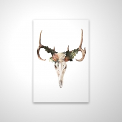 Magnetic 20 x 30 - 3D - Deer skull with roses