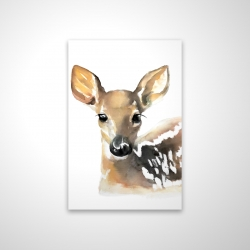 Magnetic 20 x 30 - 3D - Watercolor fawn face