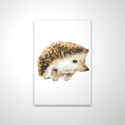 Magnetic 20 x 30 - 3D - Watercolor hedgehog