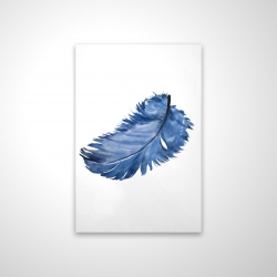 Magnetic 20 x 30 - 3D - Watercolor blue feather