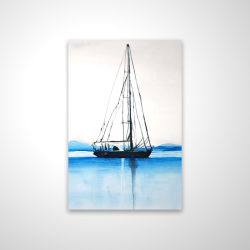 Magnetic 20 x 30 - 3D - Sailboat on a calm water