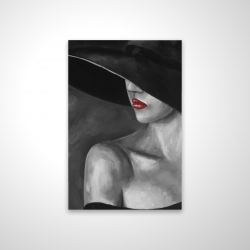 Magnetic 20 x 30 - 3D - Mysterious woman with a hat