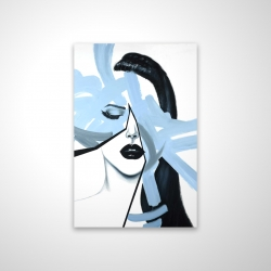 Magnetic 20 x 30 - 3D - Abstract blue woman portrait