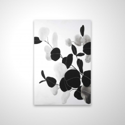 Magnetic 20 x 30 - 3D - Grayscale branches with leaves