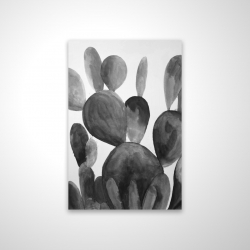 Magnetic 20 x 30 - 3D - Grayscale paddle cactus plant